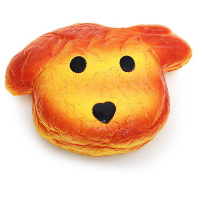 Buy ORANGE Realistic Dog Shape Bread PU Foam Squishy Toy for $10.33 in GearBest store