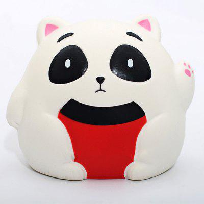 Pudgy Fortune Cat Soft PU Foam Squishy Toy