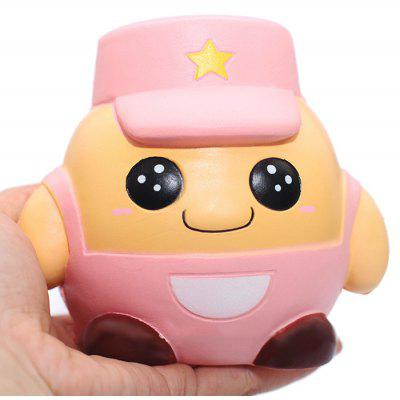 Buy PINK Cute Cartoon Soldier Soft PU Foam Squishy Toy for $9.25 in GearBest store