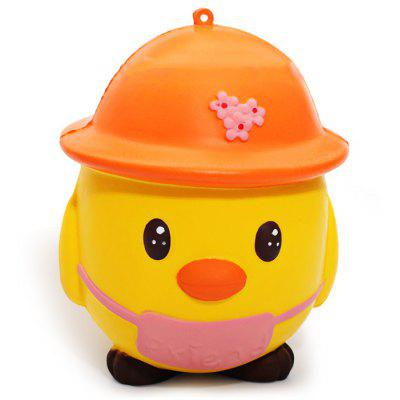 Cartoon Chick in Helmet PU Foam Squishy Toy