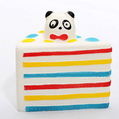 Triangle Panda Cake PU Foam Squishy Toy