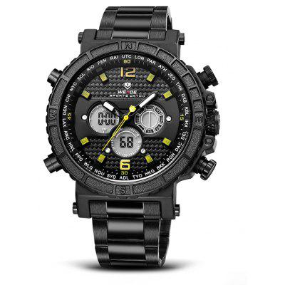 Buy YELLOW AND BLACK WEIDE WH6305 2-movt LCD Men Fashion Watch for $27.62 in GearBest store