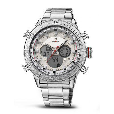 WEIDE WH6308 2-movt LCD Men Fashion Watch