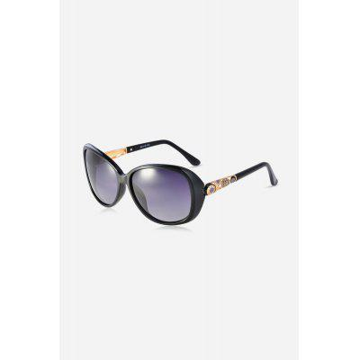 Hollow-out Temple Colored Lens Polarized Sunglasses