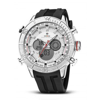 WEIDE WH6308 PU Strap Men Fashion Watch