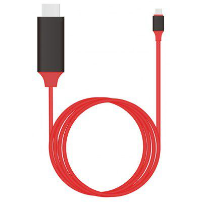 CY U3 - 342 - RE - 2.0M Cable USB de Tipo-C a HDMI