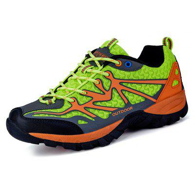 Buy NEON GREEN Men Comfortable Space PU Hiking Shoes for $36.14 in GearBest store