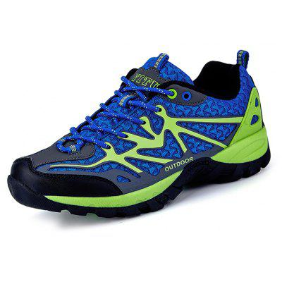 Buy PEARL ROYAL BLUE Men Comfortable Space PU Hiking Shoes for $36.14 in GearBest store