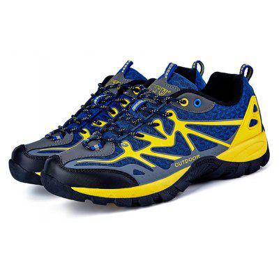Buy CERULEAN Men Comfortable Space PU Hiking Shoes for $36.14 in GearBest store