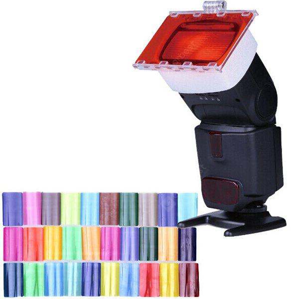 Flash Speedlite Juego Gel Color 30 Unidades
