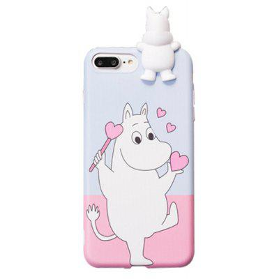 Novelty Hippo Pattern Back Cover Case for iPhone 7 Plus