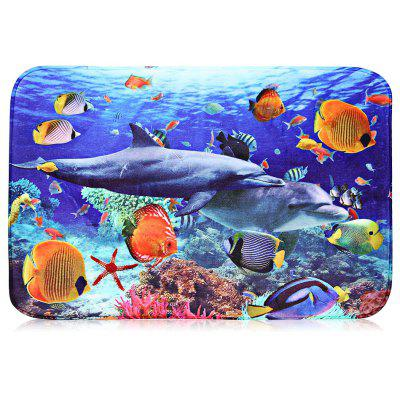 Fish Flannel Doormat Rug Mat