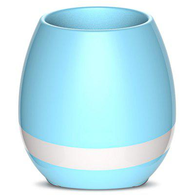 Smart Mini Flowerpot Piano Bluetooth Speaker Night Light-trois couleurs à choisir
