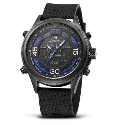 Buy BLUE AND BLACK WEIDE WH6306 2-movt LCD Men Fashion Watch for $28.70 in GearBest store