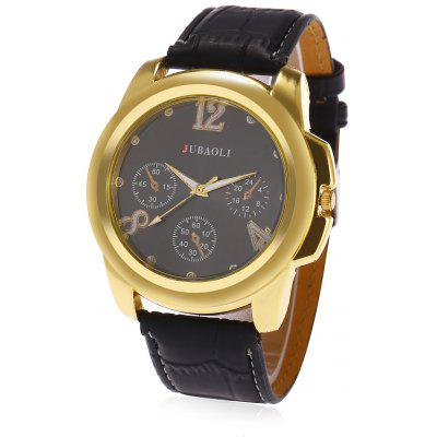 JUBAOLI A623  Men Leather Band Causal  Wristwatch