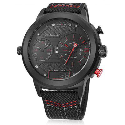 WEIDE WH6405 Nylon Strap Men Quartz Watch