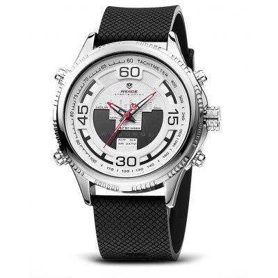 WEIDE WH6306 2-movt LCD Men Fashion Watch