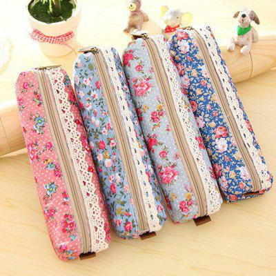 Lace Flower High Capacity Storage Stationery Pen Bag