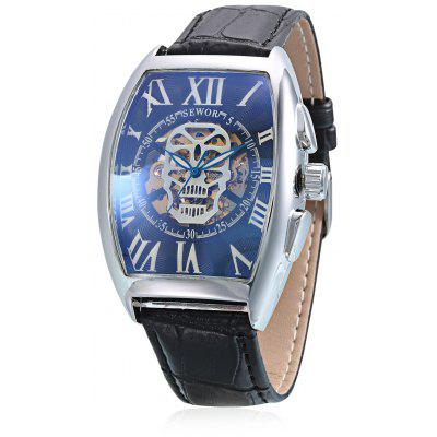 SEWOR Rectangle Men Auto Mechanical Watch