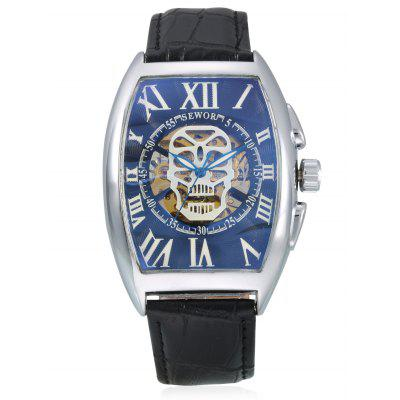 SEWOR Rectangle Men Auto Mechanical WatchMens Watches<br>SEWOR Rectangle Men Auto Mechanical Watch<br><br>Band material: PU Leather<br>Band size: 26.5 x 2cm<br>Brand: Sewor<br>Case material: Alloy<br>Clasp type: Pin buckle<br>Dial size: 4.7 x 3.9 x 1.6cm<br>Display type: Analog<br>Movement type: Automatic mechanical watch<br>Package Contents: 1 x Watch<br>Package size (L x W x H): 27.00 x 4.00 x 2.00 cm / 10.63 x 1.57 x 0.79 inches<br>Package weight: 0.1100 kg<br>Product size (L x W x H): 26.50 x 3.90 x 1.60 cm / 10.43 x 1.54 x 0.63 inches<br>Product weight: 0.0850 kg<br>Shape of the dial: Rectangle<br>Watch style: Hollow-out<br>Watches categories: Men<br>Water resistance: Life water resistant<br>Wearable length: 20.5 - 24.5cm