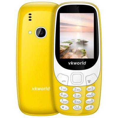 Buy YELLOW Vkworld Z3310 Quad Band Unlocked Phone for $14.99 in GearBest store