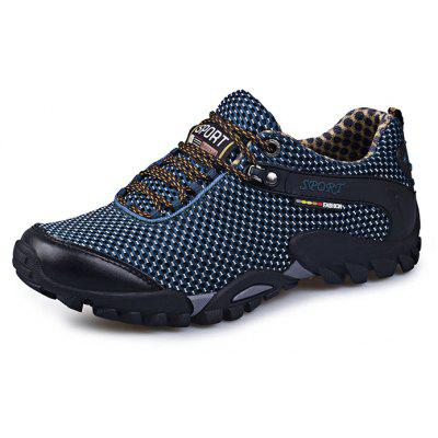 Buy DEEP BLUE Hollow Comfortable Men Hiking Shoes for $35.73 in GearBest store