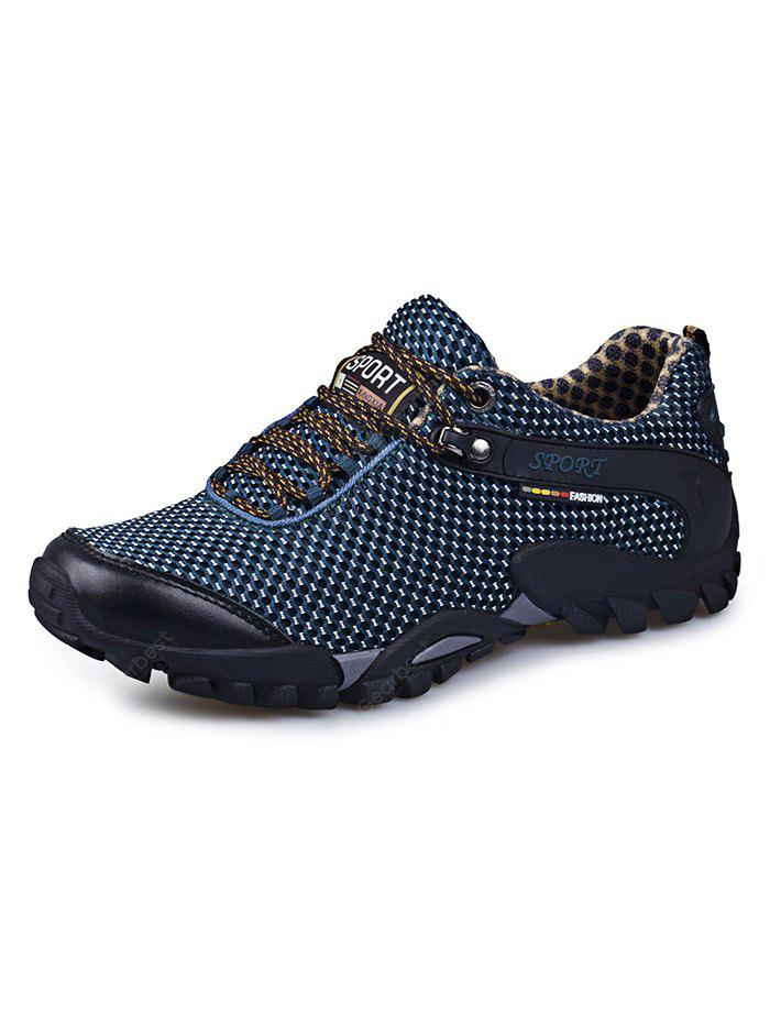 DEEP BLUE Hollow Comfortable Men Hiking Shoes