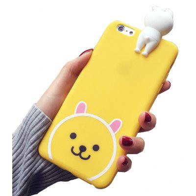 3D Doll Bear Pattern Back Case