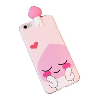 Buy PINK 3D Doll Pink Peach Back Case for $4.18 in GearBest store