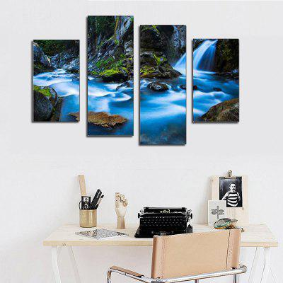 Buy COLORMIX 4PCS Waterfall Printed Canvas Print Unframed Wall Art for $22.68 in GearBest store