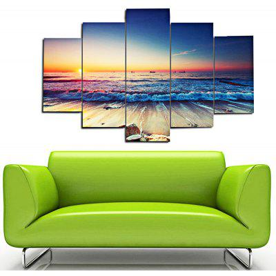 5PCS Tide Printed  Canvas Print Unframed Wall Art