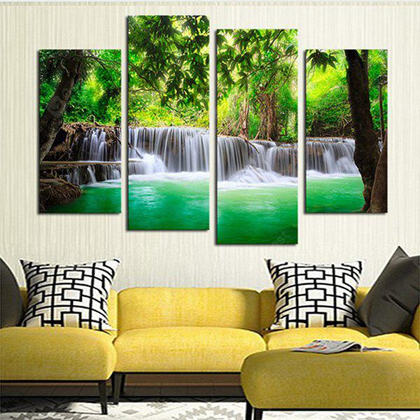 4PCS Forest Tree Printed  Canvas Print Unframed Wall Art