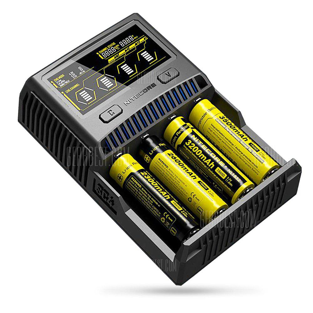 Nitecore SC4 Superb Charger - BLACK EU