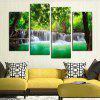 4PCS Forest Tree Printed  Canvas Print Unframed Wall Art - COLORMIX