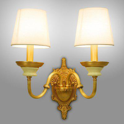 Buy COPPER COLOR ZUOGE DJB1018 2 Branches E14 Base Wall Light for Decor for $124.34 in GearBest store