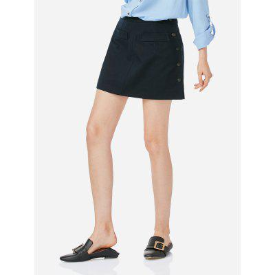 Navy blue ZANSTYLE Women A Line Navy Blue Short Skirt XL-$14.88 ...