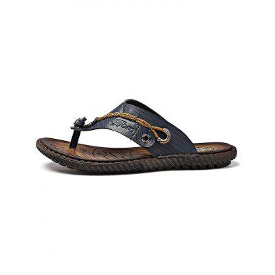 Men Microfiber Leather Handcraft Casual Flip-flopsMens Slippers<br>Men Microfiber Leather Handcraft Casual Flip-flops<br><br>Contents: 1 x Pair of Casual Flip-flops<br>Materials: Microfiber, Rubber<br>Occasion: Casual, Daily<br>Package Size ( L x W x H ): 33.00 x 22.00 x 11.00 cm / 12.99 x 8.66 x 4.33 inches<br>Package Weights: 0.65kg<br>Seasons: Summer<br>Style: Leisure, Comfortable<br>Type: Slippers