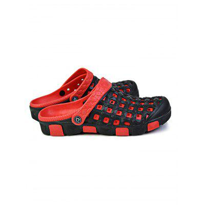 Male Two Tone Ventilated Garden Slippers with BackstrapMens Slippers<br>Male Two Tone Ventilated Garden Slippers with Backstrap<br><br>Contents: 1 x Pair of Garden Slippers<br>Materials: EVA, PU<br>Occasion: Casual, Daily<br>Package Size ( L x W x H ): 31.00 x 18.50 x 12.00 cm / 12.2 x 7.28 x 4.72 inches<br>Package Weights: 0.6200KG<br>Seasons: Autumn,Spring,Summer<br>Style: Leisure, Fashion, Comfortable<br>Type: Slippers