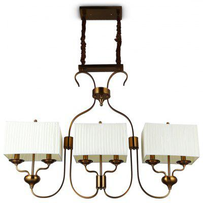 ZGPAX Creative Retro Rectangular Chandelier