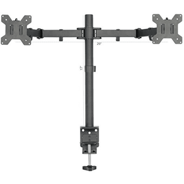 Dual LCD LED Fully Adjustable Monitor Desk Mount Stand