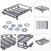 Roof Luggage Rack with Light Bar - BLACK