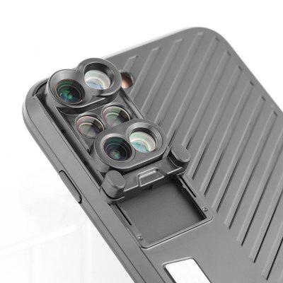 4-in-1 Dual Cameras Lens Kit Case momax x lens 4 in 1 120 degree wide angle 15x macro lens 180 degree fisheye cpl filter for smartphone tablet silver