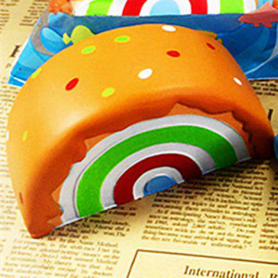 NEXTERIC Realistic Sesame Rainbow Cake PU Squishy Toy Simulation Food