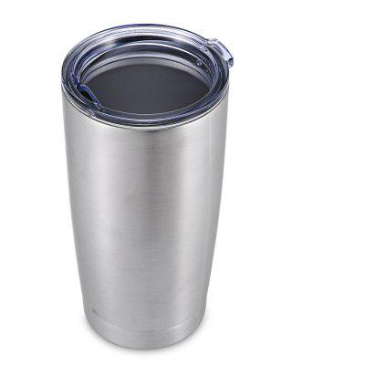 580mL Double Walls Vacuum Stainless Steel Beer Cup with Lid