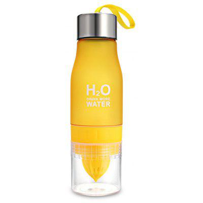 700mL Portable Frosted Plastic Water Bottle with Manual Juicer