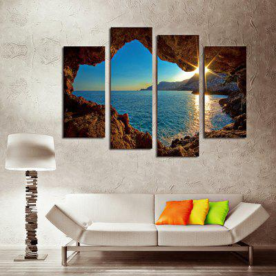 4PCS Sunset Canvas Prints Unframed Wall Art