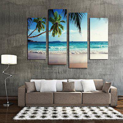 4PCS Sky Coco Printing  Canvas Print Unframed Wall Art