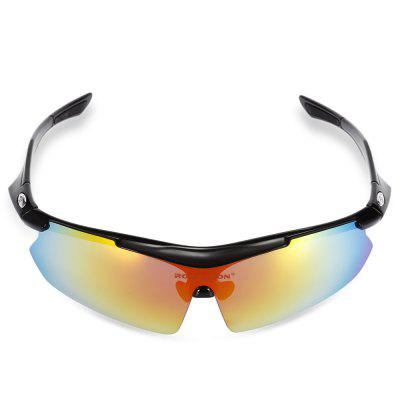 Buy BLACK Robesbon 3 Replacement Lenses Polarized Cycling Glasses for $19.57 in GearBest store