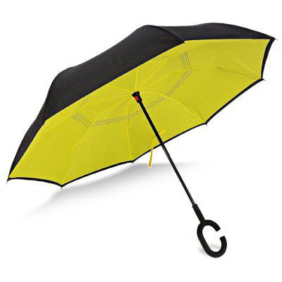 Buy YELLOW Windproof Reverse Inverted Umbrella for Car for $18.96 in GearBest store
