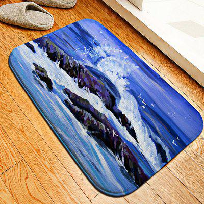 Wave Flannel Doormat Rug Mat
